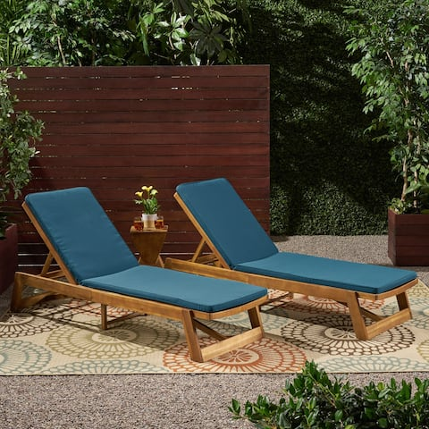 Christopher Knight Home Nadine Outdoor Fabric Chaise Lounge Cushion (Set of 2)