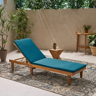Link to Nadine Outdoor Fabric Chaise Lounge Cushion by Christopher Knight Home Similar Items in Patio Furniture