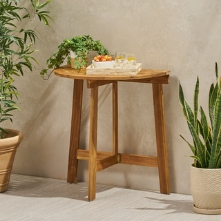 Westmount Outdoor Half-Round Folding Acacia Wood Bistro Table by Christopher Knight Home