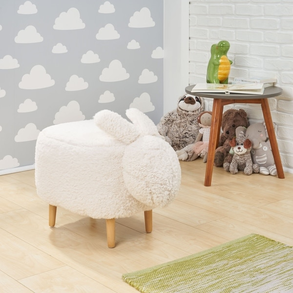 Bajada Fabric Kids Bunny Ottoman Stool by Christopher Knight Home