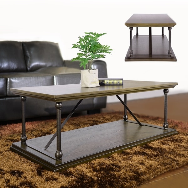 Shop Furniturer Modern Coffee Tables Retangle Free Shipping Today