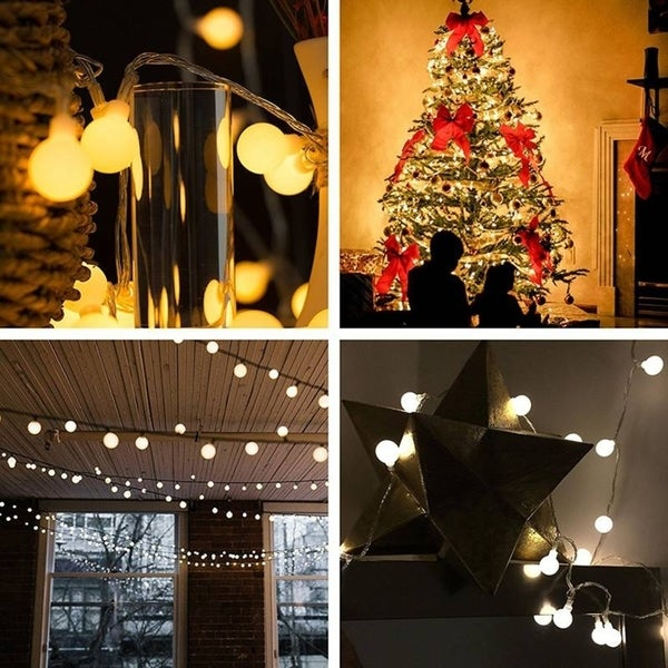 Shop 5m 50 Led Usb Power Ball Bulb String Lights With Remote Control Light Garden Home Party