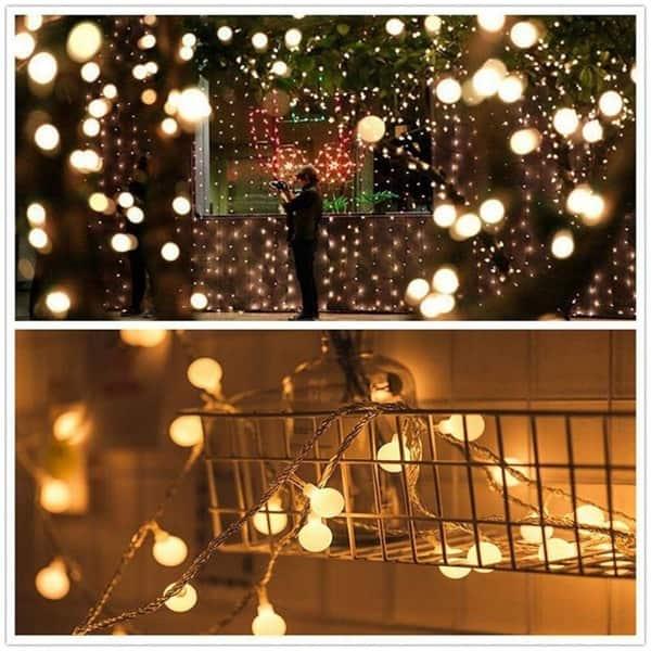 5M 50 Led String Lights Ball RGB Twinkle Light Waterproof Globe Fairy Christmas