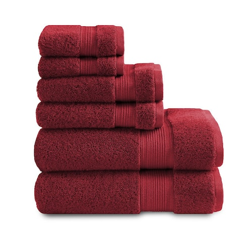 Feather Touch - Pure Cotton 6 Piece Bath Towel Set (500 GSM)