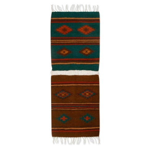 Handmade Zapotec Morning Zapotec wool runner (Mexico)