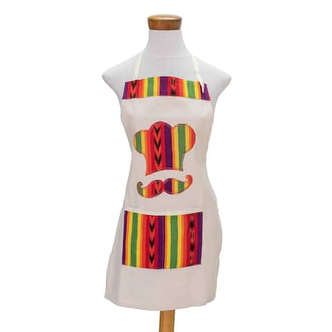 Handmade Colorful ConfectionCotton apron (Guatemala)