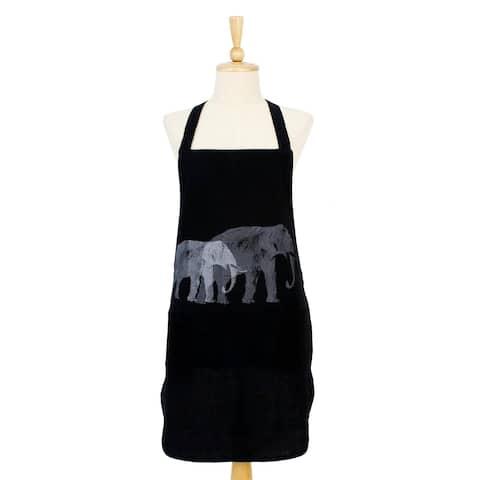 Handmade Elephant Echo in BlackCotton apron (Thailand)