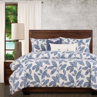 Ernest Hemingway Blue Lagoon Tropical 6 Piece Duvet Cover Set with Duvet Insert