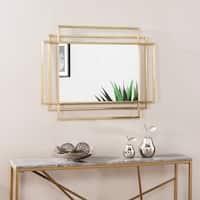 Silver Orchid Anrella Modern Vintage Gold Metal Wall Mirror