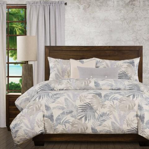 Ernest Hemingway Island Life Tropical 6 Piece Duvet Cover Set with Duvet Insert