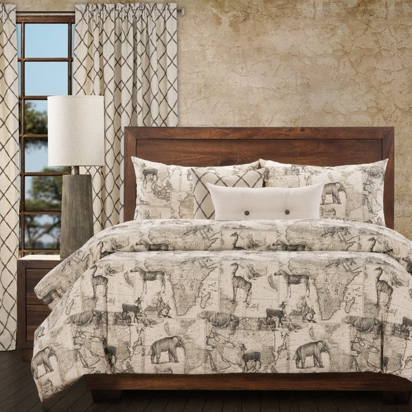 Ernest Hemingway Expedition 6 Piece Duvet Cover Set with Duvet Insert