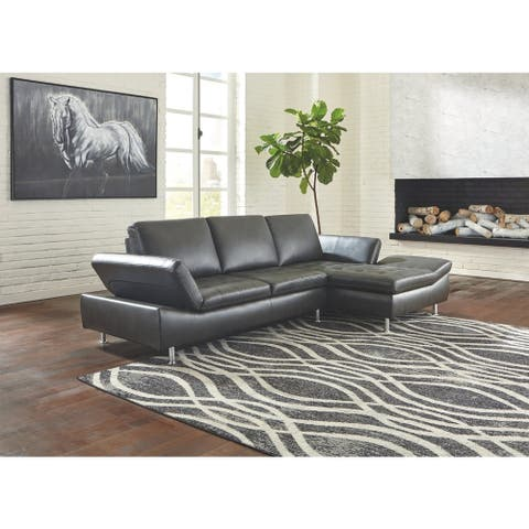 Carrnew 2-Piece Sectional with Right Facing Chaise - Gray