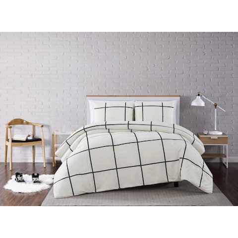 Truly Soft Kurt Windowpane 3 Piece Comforter Set