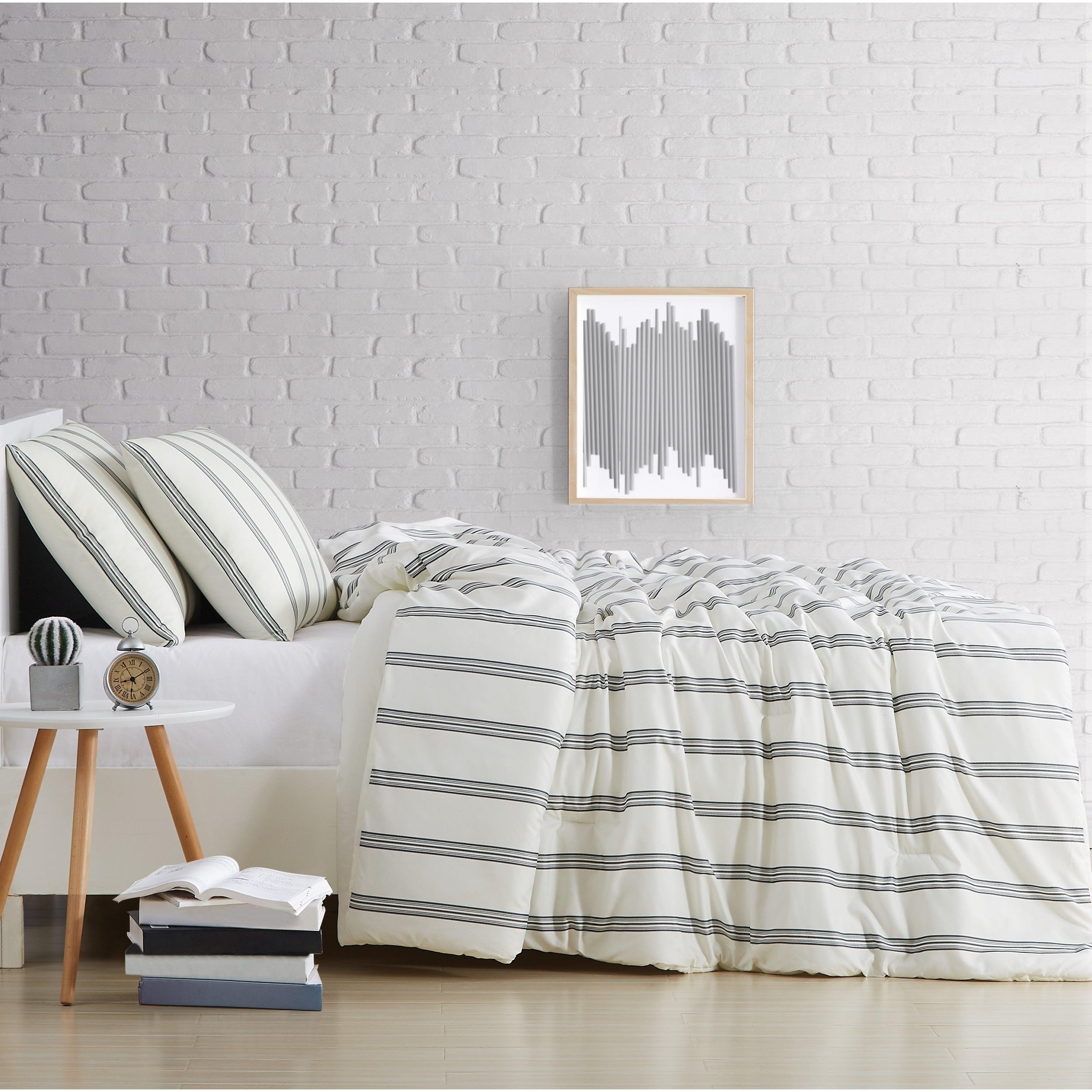 Porch Den Spellman Striped 3 Piececomforter Set On Sale Overstock 28216715