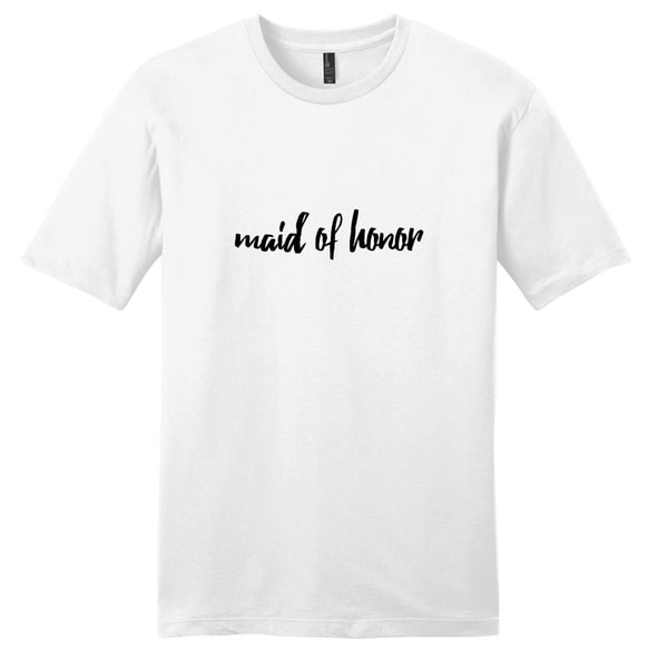 Maid of Honor T-Shirt - Unisex Fit Wedding Party Shirt