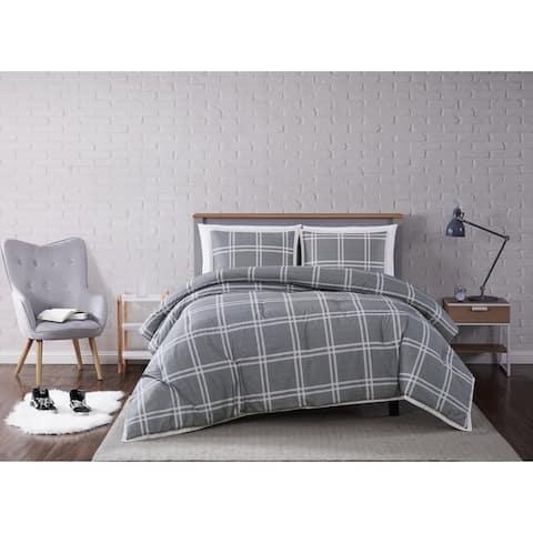 Truly Soft Leon Plaid 3 Piece Comforter Set
