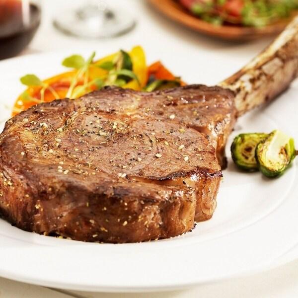 Chicago Steak Company 2 (30-oz) Premium Angus Beef Wet Aged T-Hawk. Opens flyout.