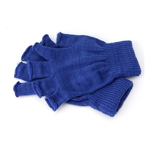 Blue Fingerless Gloves (Pair)