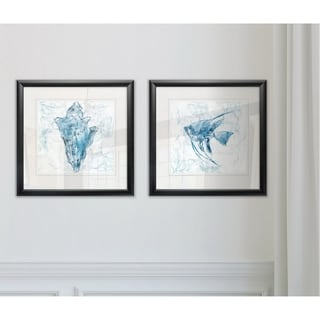 Link to Wexford Home 'Blue Marble Coast Shell' Framed Set Similar Items in Matching Sets