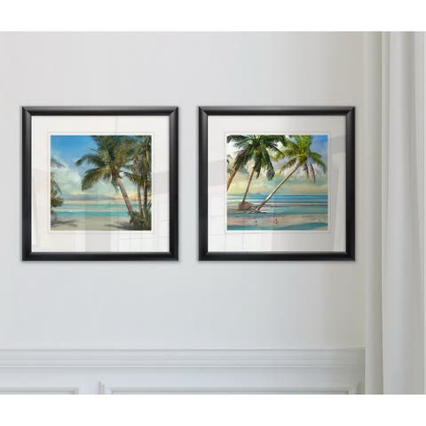 Wexford Home 'A Found Paradise II' Black Framed 2-piece Giclee Art Print Set