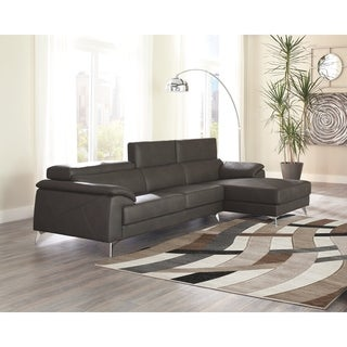 Tindell 2-Piece Sectional with Right Facing Chaise - Gray