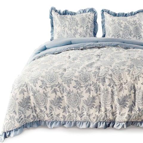 Kasentex Reversible Comforter Set Goose Down Alternative Filling