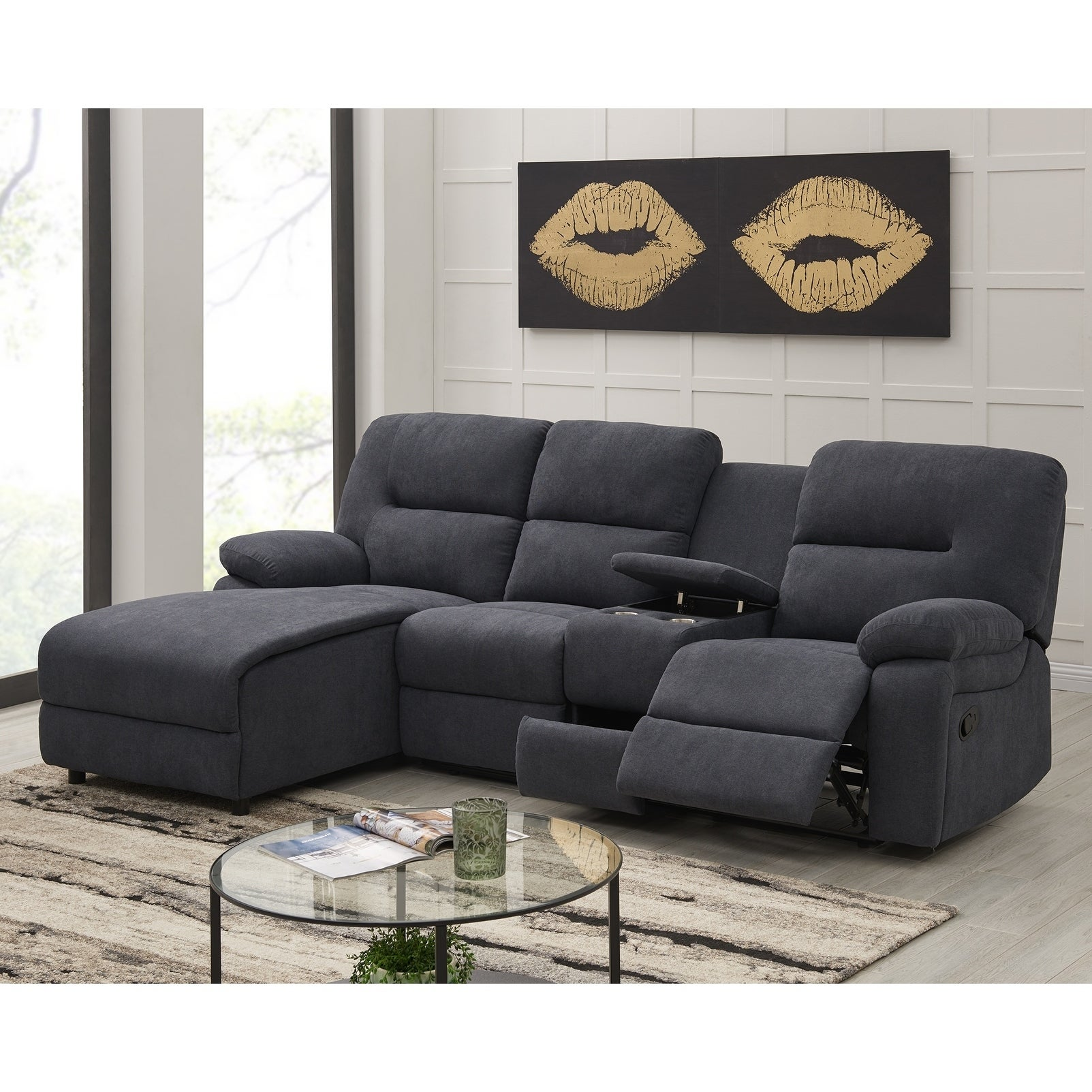 Buy Microfiber Sectional Sofas Online at Overstock | Our ...
