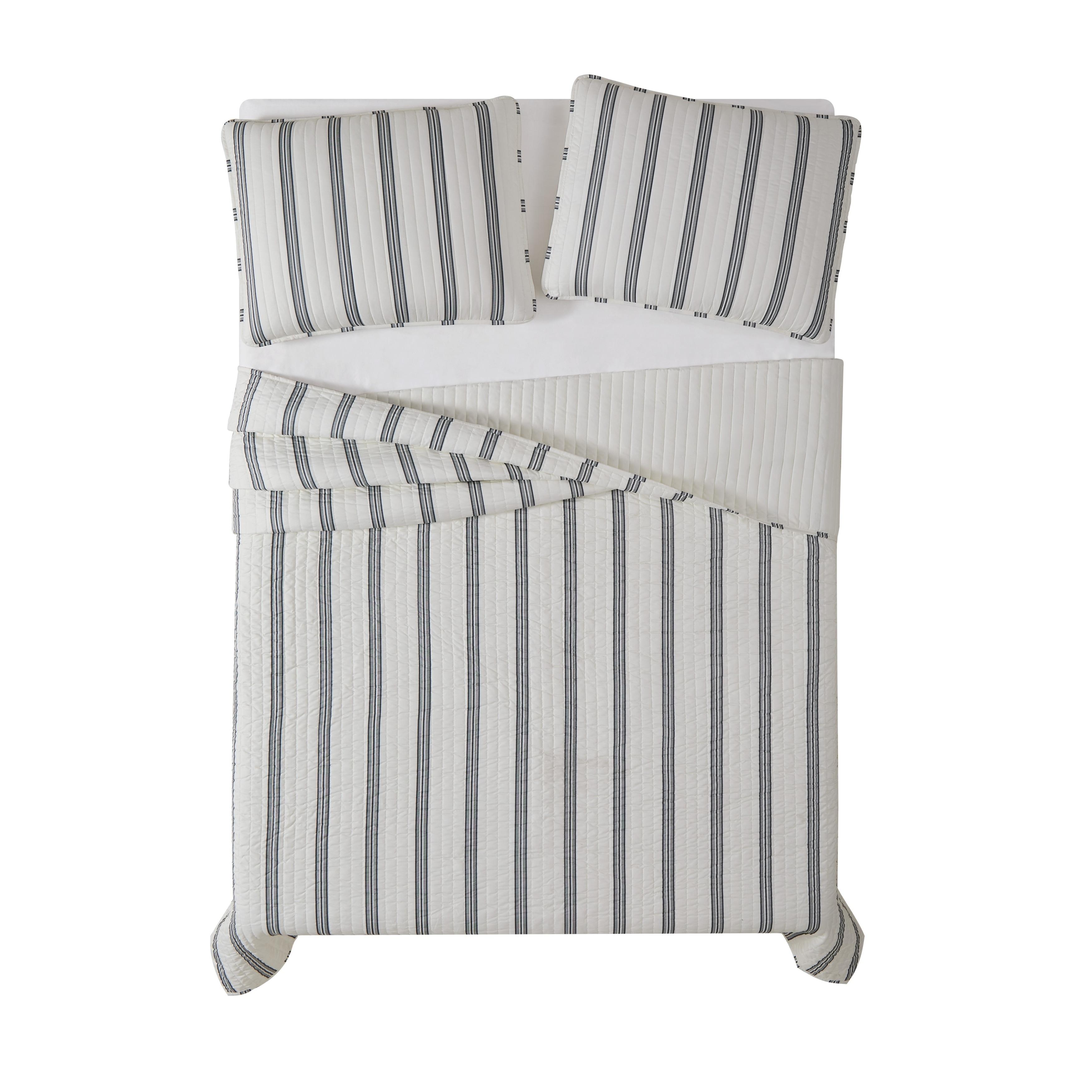Porch Den Spellman Striped 3 Piecequilt Set On Sale Overstock 28220653