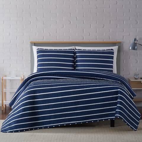 Carson Carrington Tomterna Stripe 3-piece Quilt Set