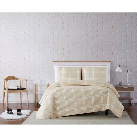 Truly Soft Leon Plaid 3 Piece Quilt Set