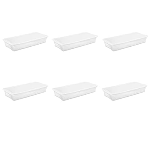 Sterilite Storage Bins 41 Quart Underbed White - Case of 6