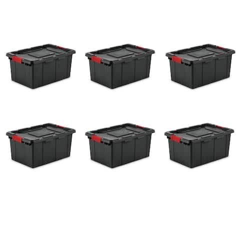 Sterilite Storage Bins 15 Gallon Industrial Black - Case of 6