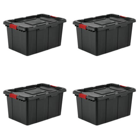 Sterilite Storage Bins 27 Gallon Industrial Black - Case of 4