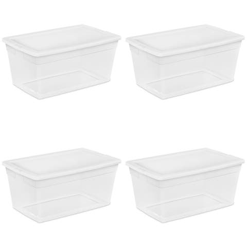 Sterilite Storage Bins 90 Quart White - Case of 4