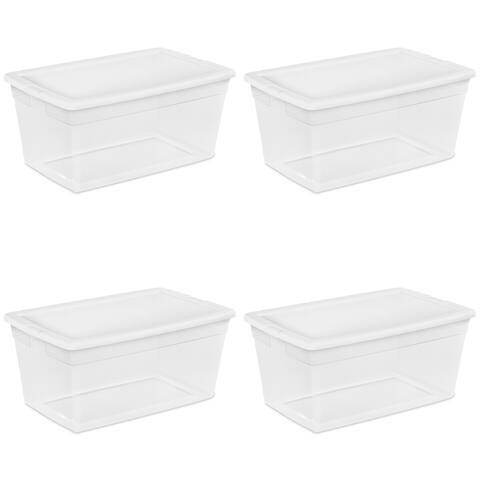 Case of 4 90 Quart Sterilite Storage Boxes