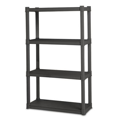 Sterilite 4 Shelf Flat Gray Storage Shelves