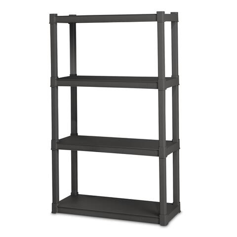 Flat Gray Sterilite 4 Shelf Unit - 4-Tier