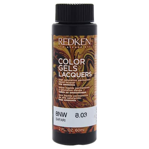 Color Gels Lacquers Haircolor 8NW Safari Redken for Unisex 2-ounce Hair Color