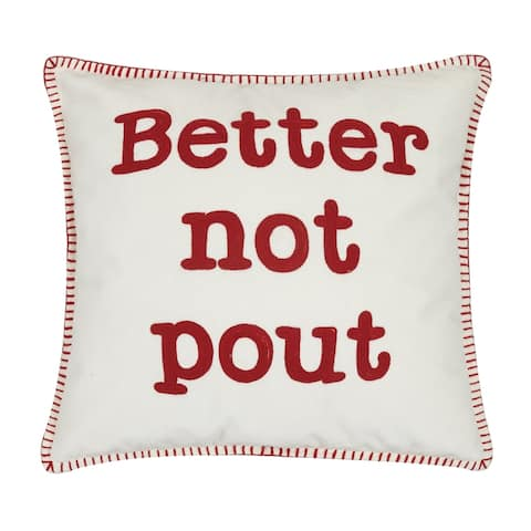Better Not Pout Crewel Pillow