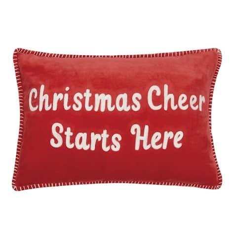 Christmas Cheer Crewel Pillow
