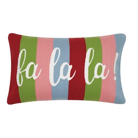 Fa La La Crewel Pillow