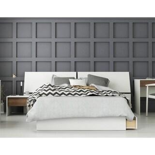 Modus 3 Piece Bedroom Set, Walnut & White