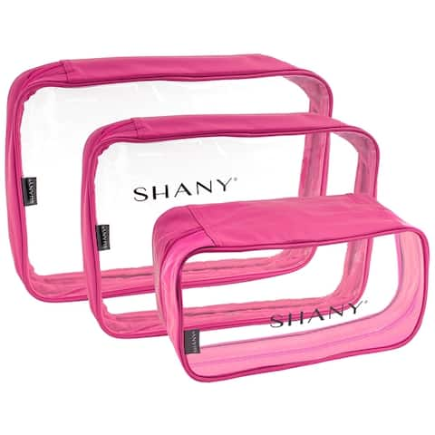 SHANY Clear Water-Resistant Luggage Organizer Set with Zipper Closures - 3 PC