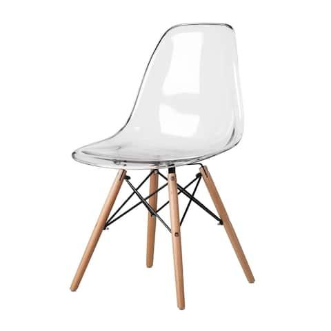 Carson Carrington Dusekarr Handmade Clear Acrylic Dining Chair (Set of 4)