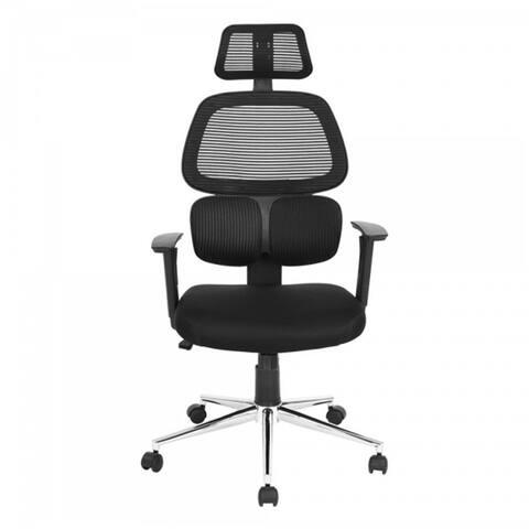 Porch & Den Tygh Black Mesh Ergonomic High-back Office Chair