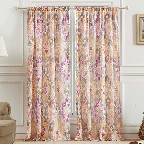 Porch & Den DeeAnn Blush Curtain Panel Pair. Opens flyout.