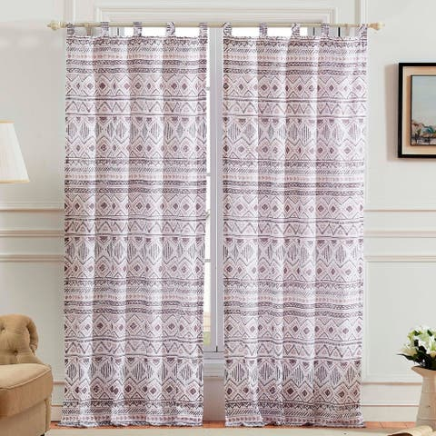 Barefoot Bungalow Denmark Ivory Microfiber Curtain Panel (Set of 2)