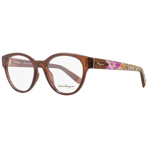 Salvatore Ferragamo SF2777 210 Womens Transp Brown 53 mm Eyeglasses - Transparent Brown