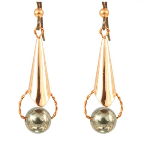Handmade Pyrite in Celestial Orbit Earrings