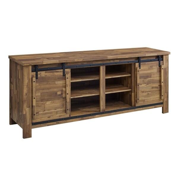"Cheshire 70"" Rustic Sliding Door Buffet Table Sideboard"
